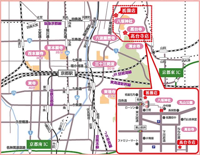 京都市周辺マップ