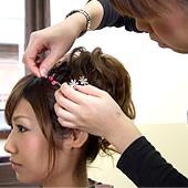 プロ美容師によるヘアセット